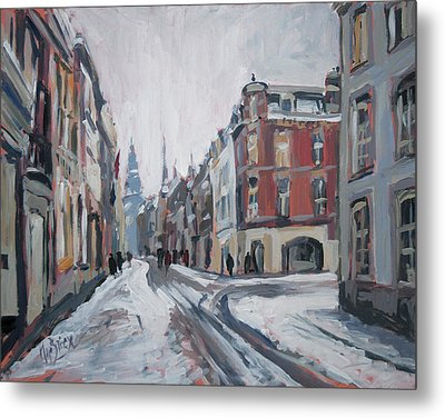 The White Grand Canal Street Maastricht Metal Print by Nop Briex