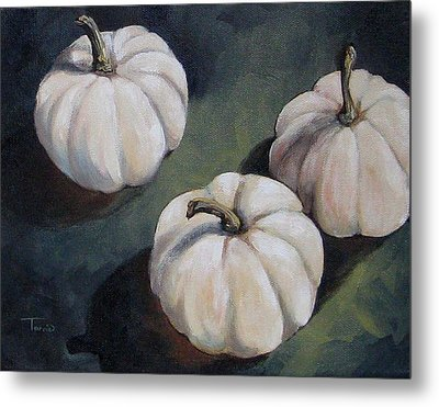 The White Pumpkins Metal Print by Torrie Smiley