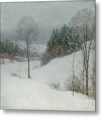 The White Veil Metal Print by Willard Leroy Metcalf