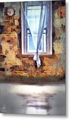 Metal Print featuring the digital art The Window by Pennie McCracken