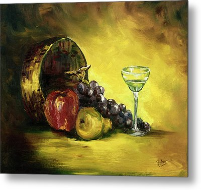 The Wine Glass Metal Print by Rebecca Kimbel