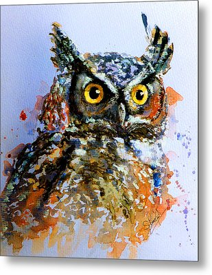 The Wise Old Owl Metal Print