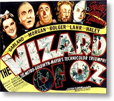 The Wizard Of Oz, Judy Garland, Frank Metal Print by Everett