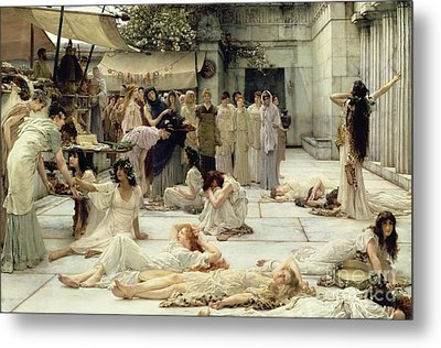 The Women Of Amphissa Metal Print by Sir Lawrence Alma-Tadema
