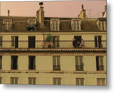 The Women On The Balcony Metal Print by Louise Fahy