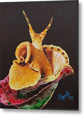 Metal Print featuring the painting The Wonder Flower Panas by Ragunath Venkatraman