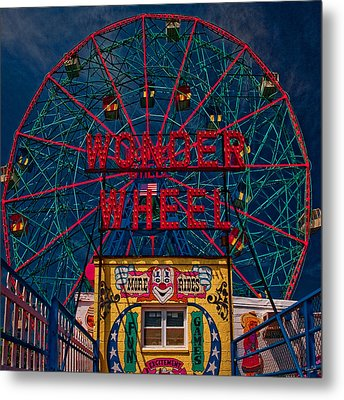 The Wonder Wheel At Luna Park Metal Print