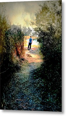 The Wooded Path Metal Print