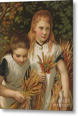 The Young Gleaners Metal Print