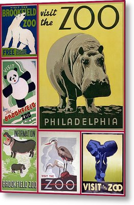 The Zoo 1930s And 1940s Poster Art Metal Print