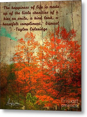 The Happiness Of Life By Taylor Coleridge Metal Print