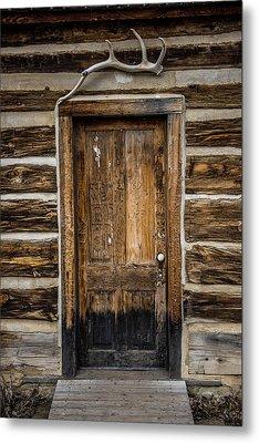 Theodore Roosevelt Cabin Door Metal Print