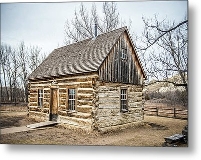 Theodore Roosevelt Cabin End Metal Print