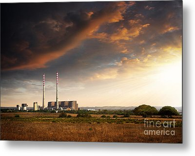 Thermoelectrical Plant Metal Print by Carlos Caetano