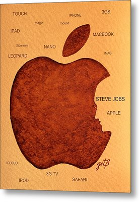 Think Different Steve Jobs 2 Metal Print by Georgeta  Blanaru