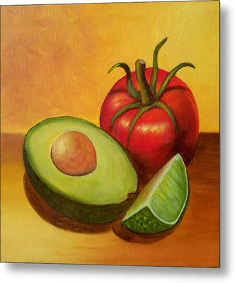 Metal Print featuring the painting Think Guacamole - Sold by Susan Dehlinger