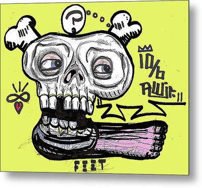 Think On Your Feet Metal Print