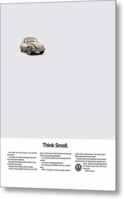 Think Small Metal Print by Mark Rogan
