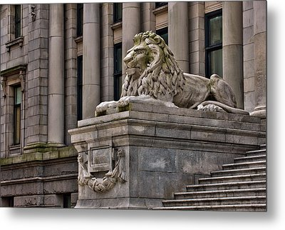 This Is British Columbia No.48 - Vancouver Art Gallery Lion Metal Print by Paul W Sharpe Aka Wizard of Wonders
