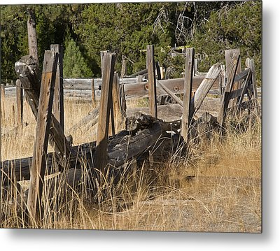 This Old Fence Metal Print by Charlie Osborn
