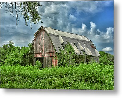 This Old Red Barn Metal Print by Don Spenner