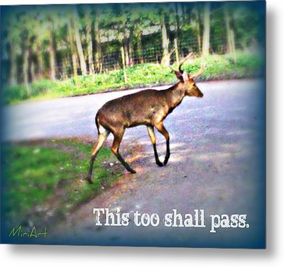 This Too Shall Pass Metal Print by Miriam Shaw