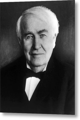 Thomas Alva Edison 1847-1931 Metal Print by Everett