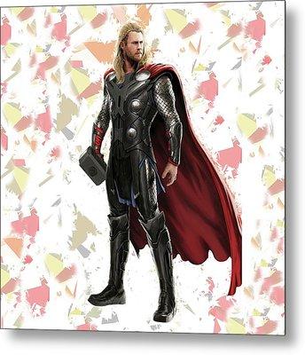Thor Splash Super Hero Series Metal Print
