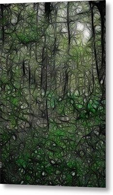 Thoreau Woods Fractal Metal Print
