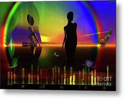 Metal Print featuring the digital art Thought Form by Shadowlea Is