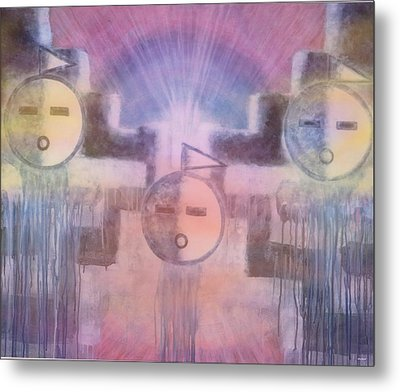 Three Angels Of The Thunder Clouds Metal Print by Anastasia Savage Ealy