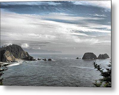 Three Arch Rocks National Wildlife Refuge Near Cape Meares Oregon Metal Print by Christine Till