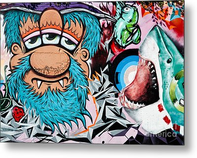 Three Eyed And The Shark Metal Print