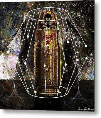 Metal Print featuring the digital art Three Fifty Seven Sig by Iowan Stone-Flowers