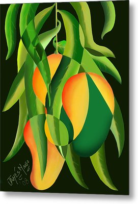 Three Mangoes Metal Print by James  Mingo