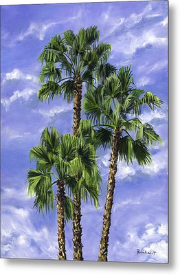 Three Palms Metal Print