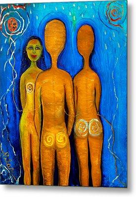 Three People Metal Print by Pilar  Martinez-Byrne
