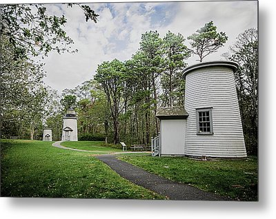 Three Sisters Lighthouses Metal Print