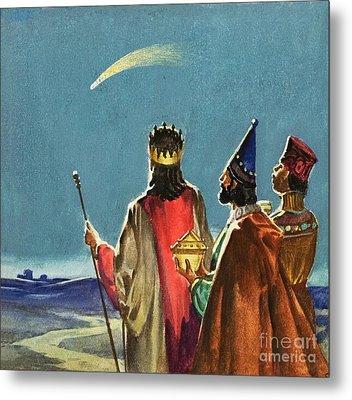 Three Wise Men Metal Print by English School