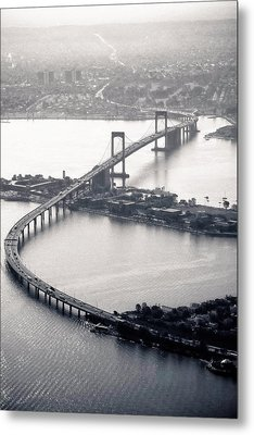 Throgs-neck Bridge - Nyc Metal Print by Original photography by Neos Design - Cory Eastman