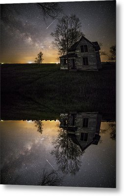 Metal Print featuring the photograph Through A Mirror Darkly  by Aaron J Groen