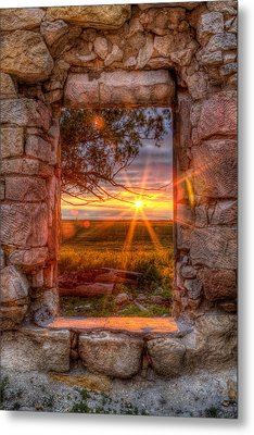 Through The Bedroom Window Metal Print by Thomas Zimmerman