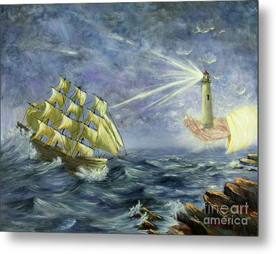 Metal Print featuring the painting Through The Storm by Kristi Roberts