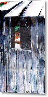 Thru The Barn Window Metal Print by Seth Weaver