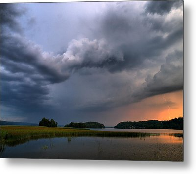 Metal Print featuring the photograph Thunder At Siuro by Jouko Lehto