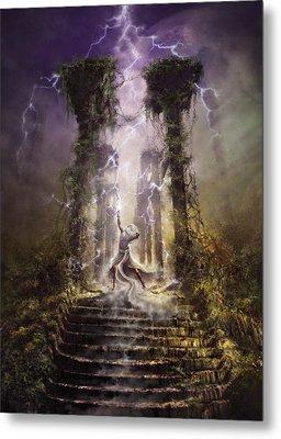 Thunderstorm Wizard Metal Print