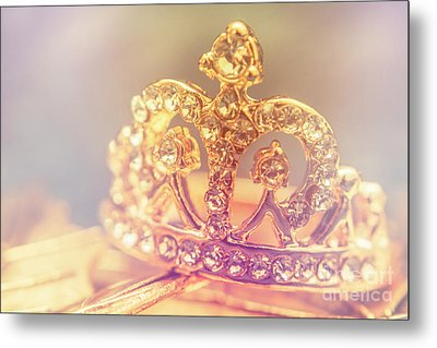 Tiara Crown With Diamonds Metal Print