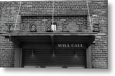 Ticket Will Call Window At Fenway Park Metal Print by Bill Dussault