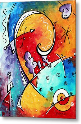 Tickle My Fancy Original Whimsical Painting Metal Print by Megan Duncanson