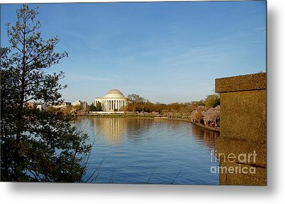 Tidal Basin And Jefferson Memorial Metal Print